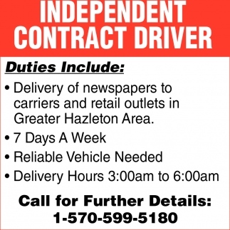 Independent Contract Driver