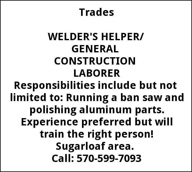 Welder's Helper