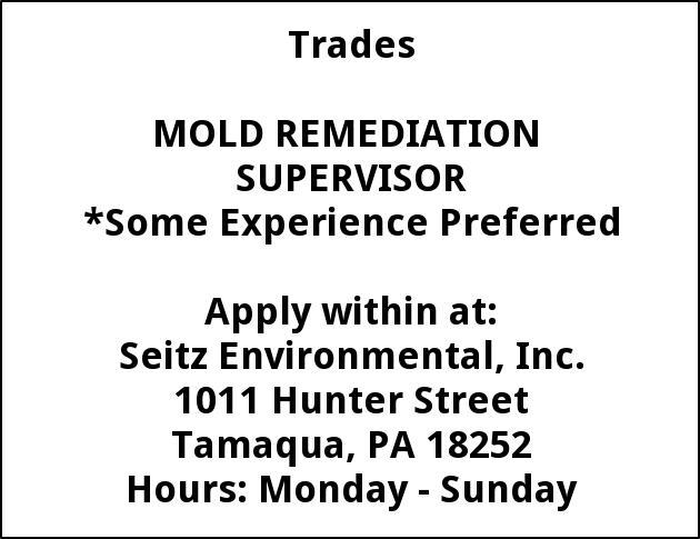 Mold Reemediation Supervisor