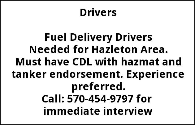 Fuel Delivery Drivers