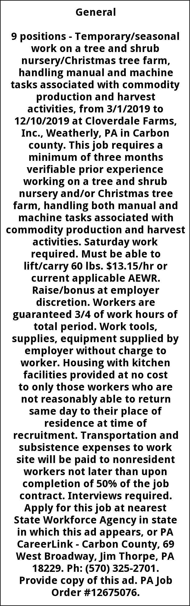 Maintenance Laborer