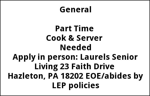 Cook & Server Needed