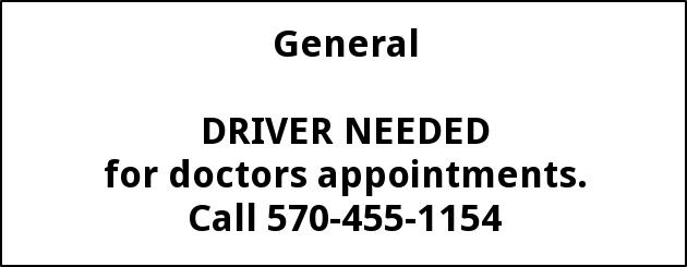 drivers for on call doctors