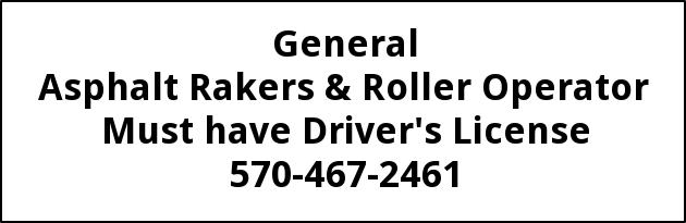 Asphalt Rakers & Roller Operators