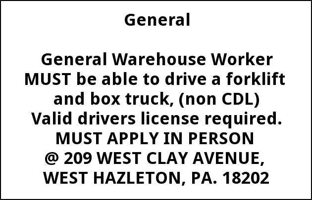 General Warehouse Worker