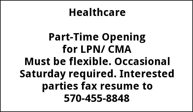 LPN/ CMA Needed