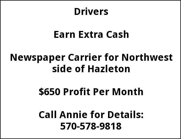 Newspaper Carrier Needed