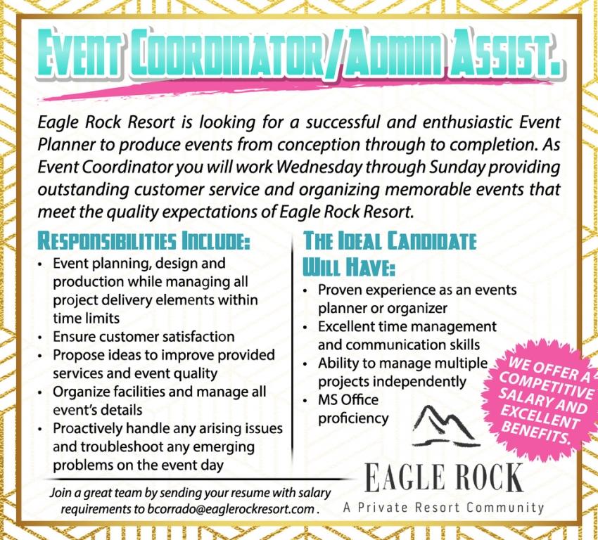 Event Coordinator/Admin Assist.