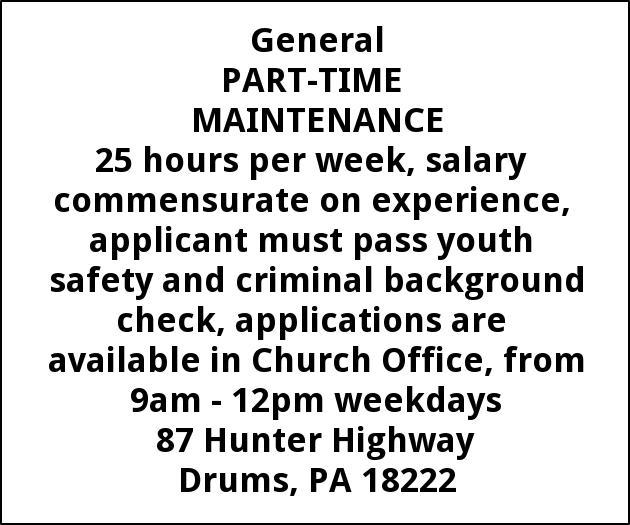 Part-Time Maintenance